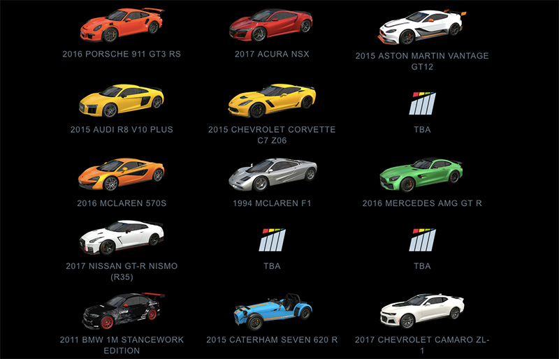 Project Cars 180 coches