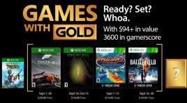 Xbox anuncia los títulos Games With Gold para septiembre 2017