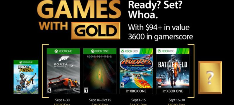 Games With Gold para septiembre 2017