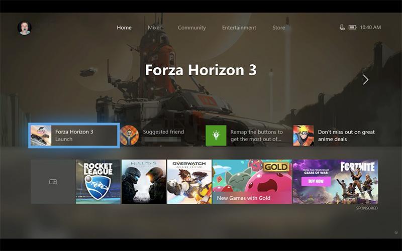 Xbox One personalizar interfaz