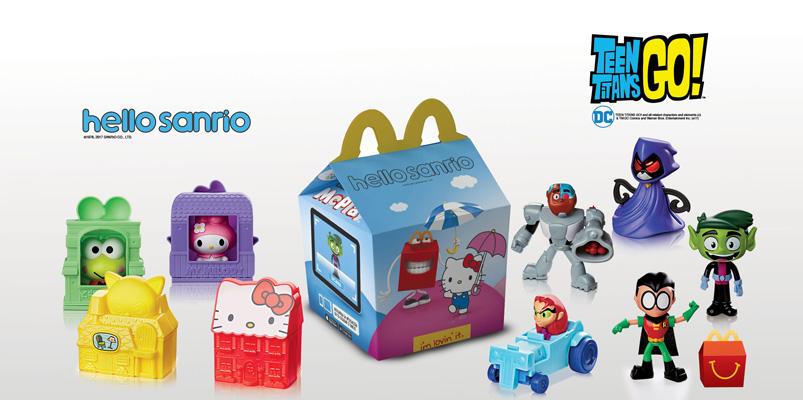 Teen Titans Go! y Hello Sanrio en la Cajita Feliz de McDonald's