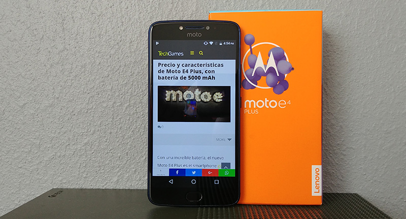 Moto E4 Plus 2017 frontal