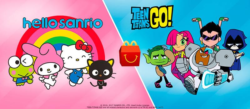 Teen Titans Go Hello Sanrio Cajita Feliz