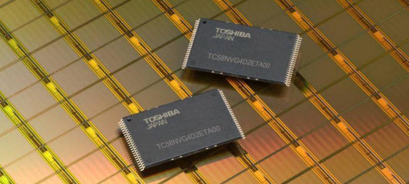 Toshiba chips de memoria
