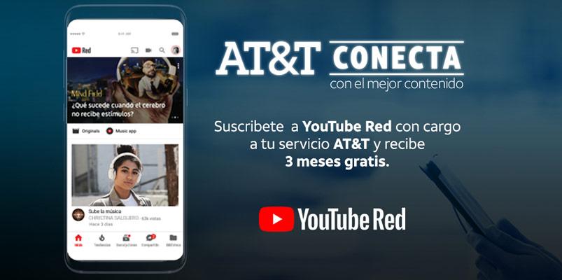 AT&T Conecta permite disfrutar de YouTube Red y de la NBA