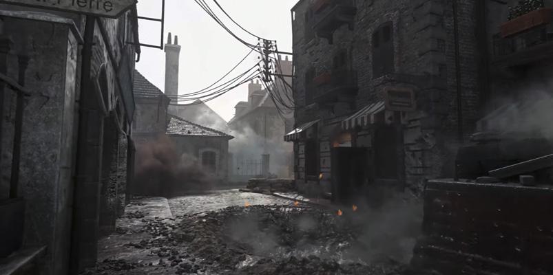 Así de espectacular se ve el clásico mapa Carentan en CoD: WWII