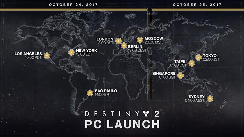Destiny 2 en computadora lanzamiento