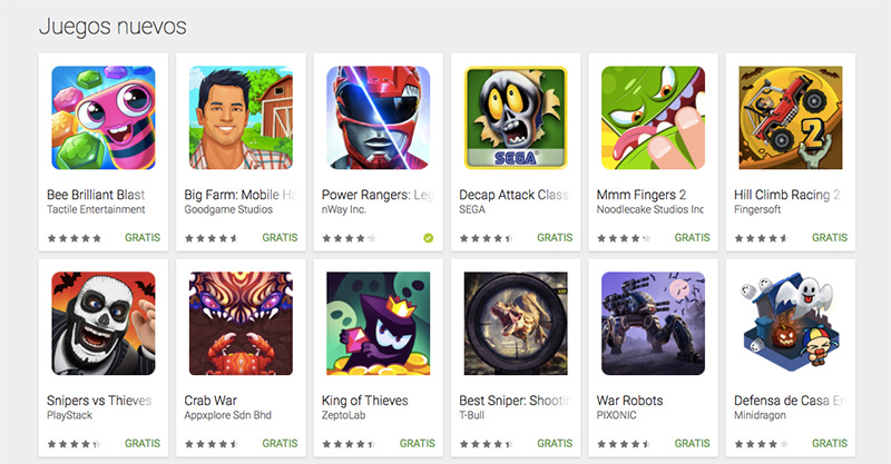 Google Play Store apps indies