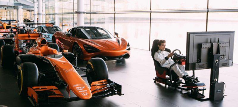 Yordi Maldonado McLaren Racing Logitech