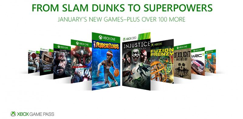 Xbox Game Pass juegos enero 2018