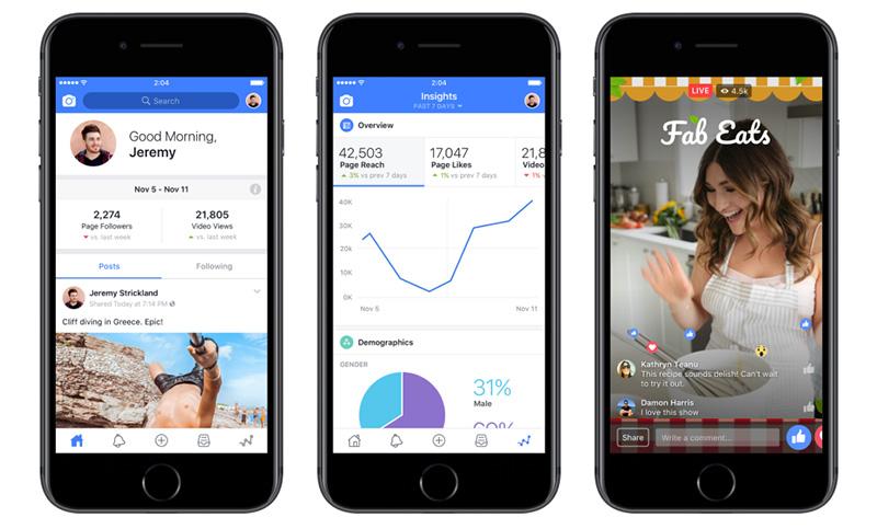 Facebook para Creadores aplicacion