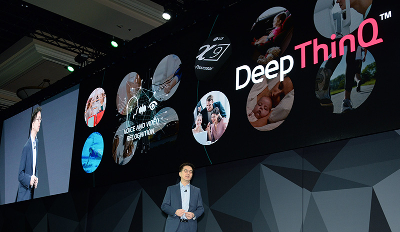 LG DeepThinQ CES 2018 conferencia