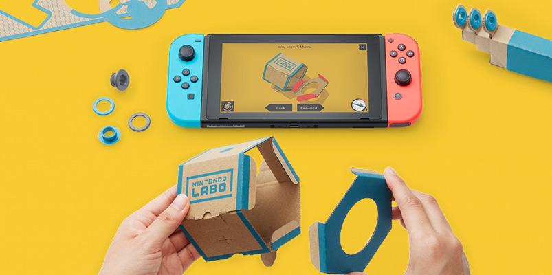 Nintendo Labo, crea nuevas experiencias con piezas de cartón