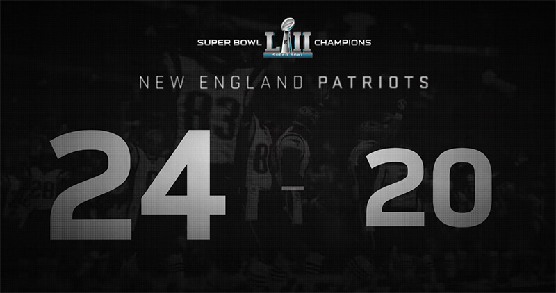 Patriots Super Bowl LII