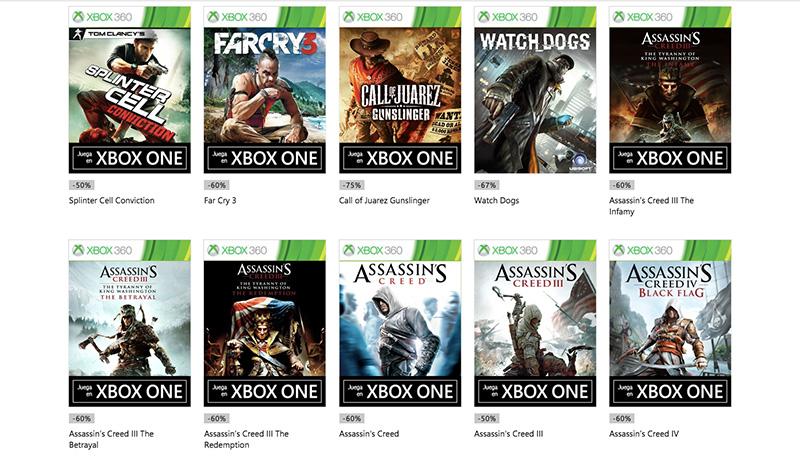Descuentos Ubisoft Xbox Live