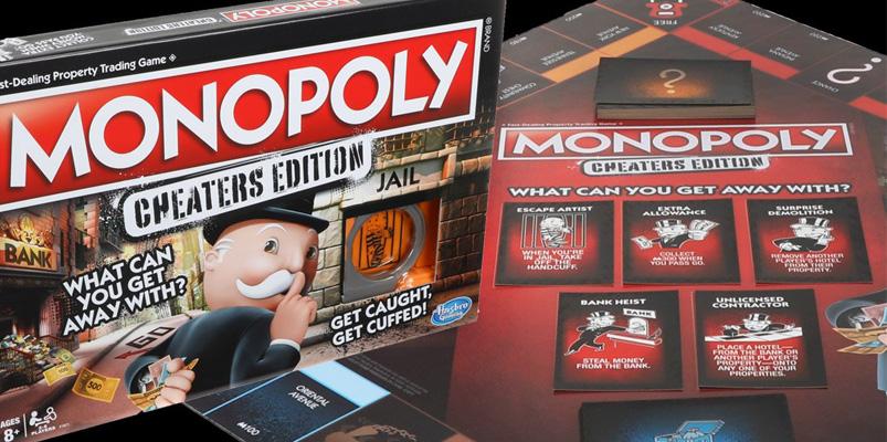Para lo tramposos, Hasbro lanzará en México Monopoly: Cheaters