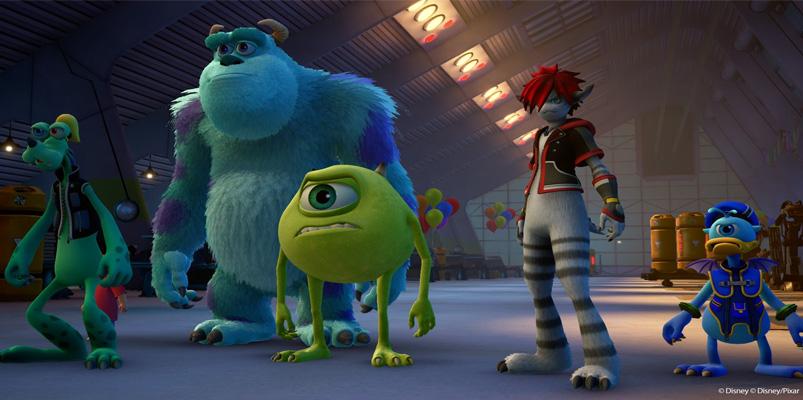 Los personajes de Monsters, Inc. en Kingdom Hearts III