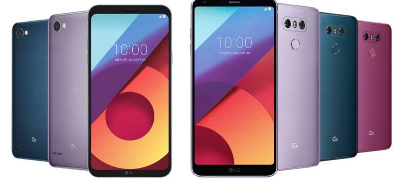 Nuevos colores LG Q6 LG G6