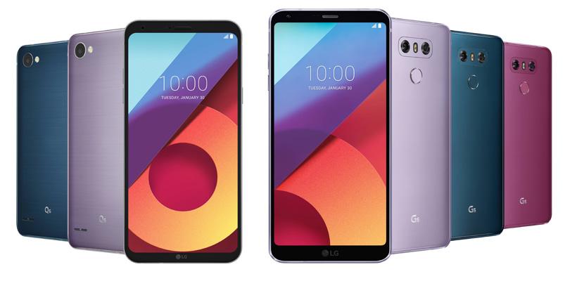 Conoce los nuevos colores para la gama LG G6 y LG Q6