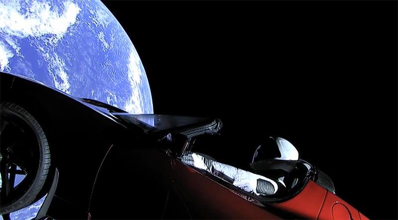 Starman Tesla Roadster espacio