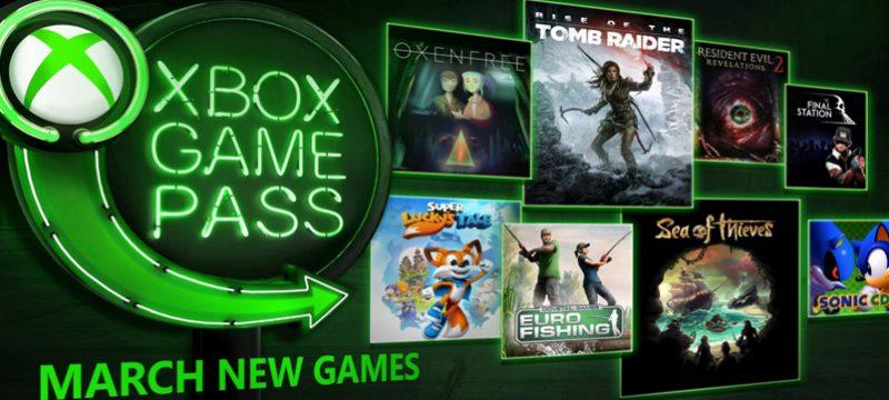 Xbox Game Pass marzo 2018
