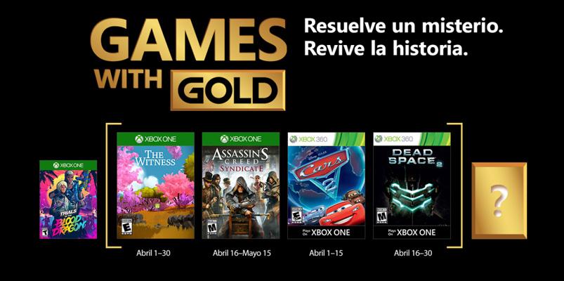 Conce los Games with Gold de abril 2018 que podrás descargar