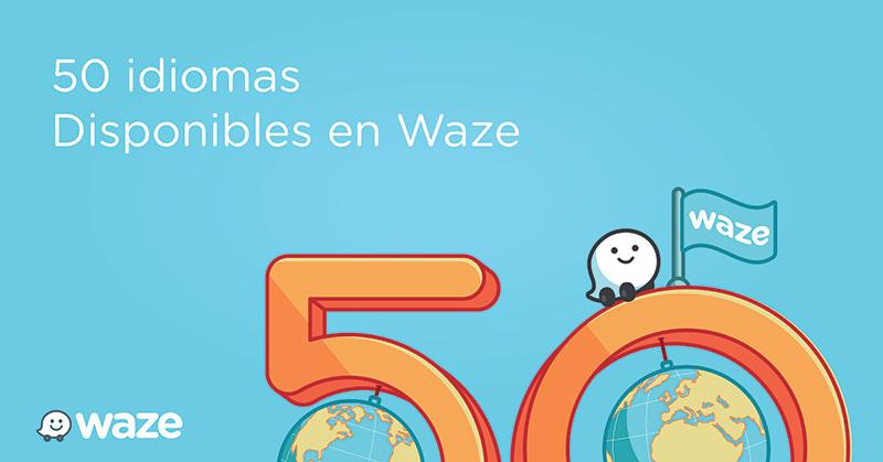 Waze en 50 idiomas ios