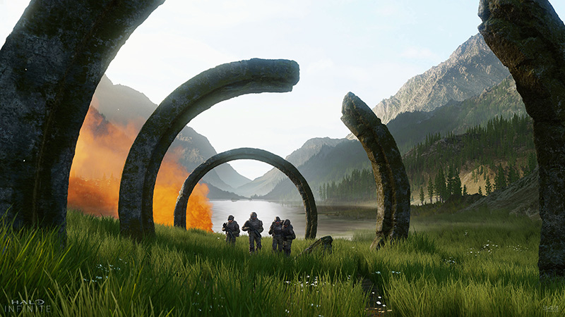 Halo Infinite Slipspace  Engine logo e3 2018