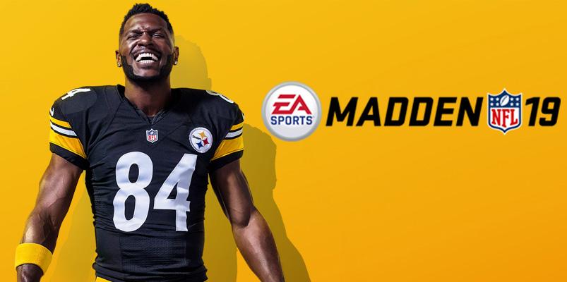 Antonio Brown es el atleta de portada de Madden NFL 19