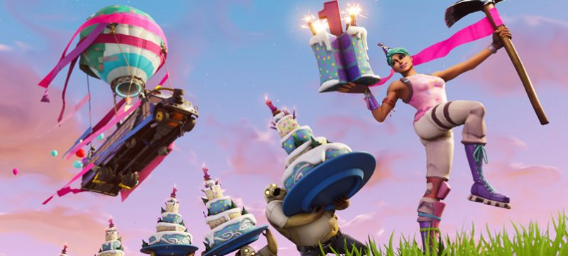 Fortnite pasteles aniversario