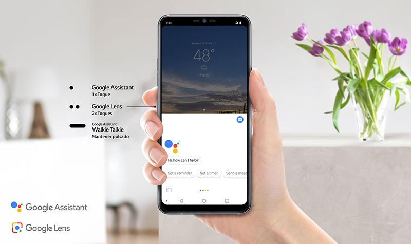 LG G7 ThinQ Google assistant key Telcel