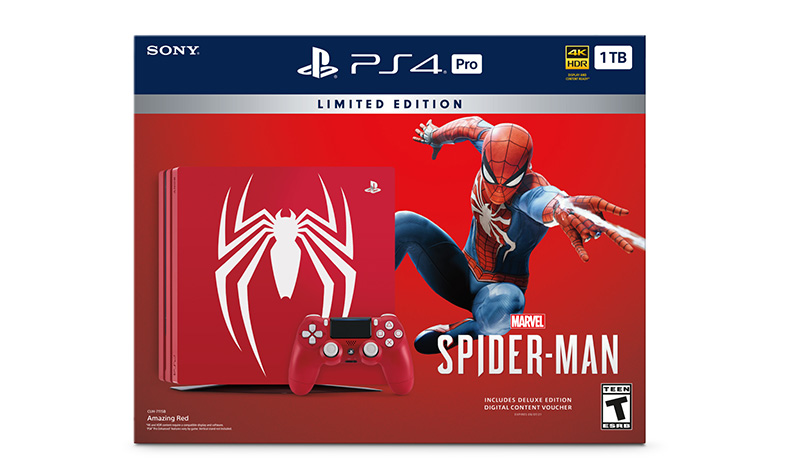 PS4 Pro Edicion Limitada de Marvels Spider-Man caja