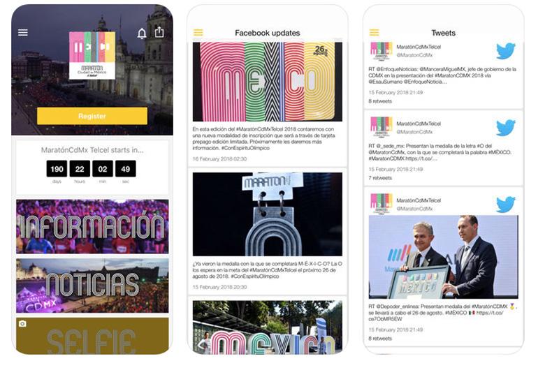 App Maraton CDMX Telcel ios