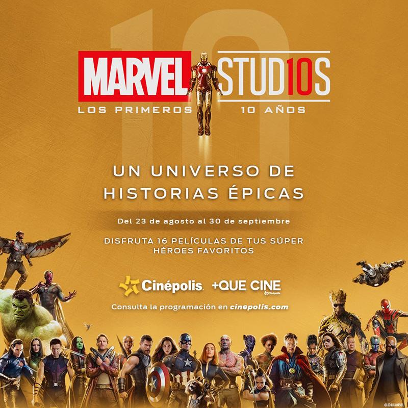 Cinépolis 10 años de Marvel Studios peliculas