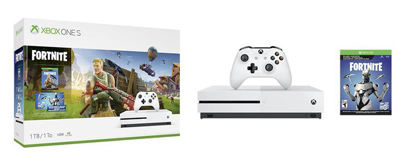 Bundle Xbox One S Fortnite contenido