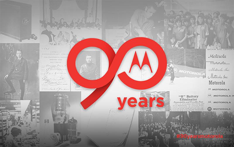 Motorola 90 años logo