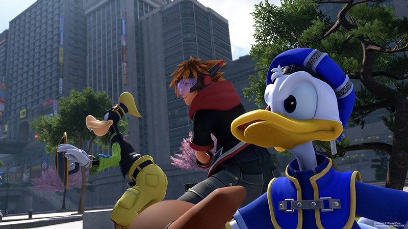 Kingdom Hearts III pato Donald Goofy