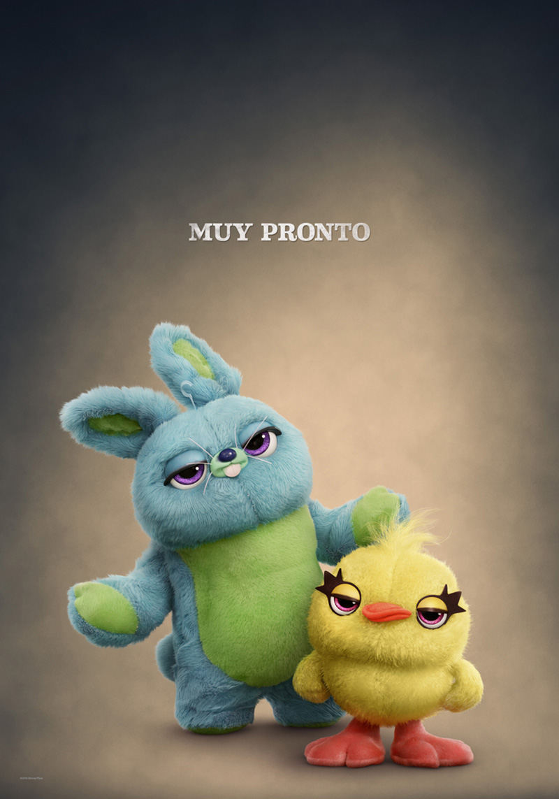Toy Story 4 Poster Ducky y Bunn