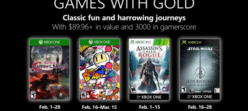 Games with Gold febrero 2019