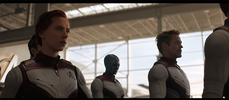 Avengers Endgame iron man traje