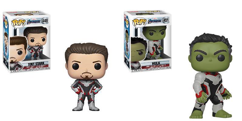 Funko Pop Tony Stark Funko Pop Hulk Avengers Endgame