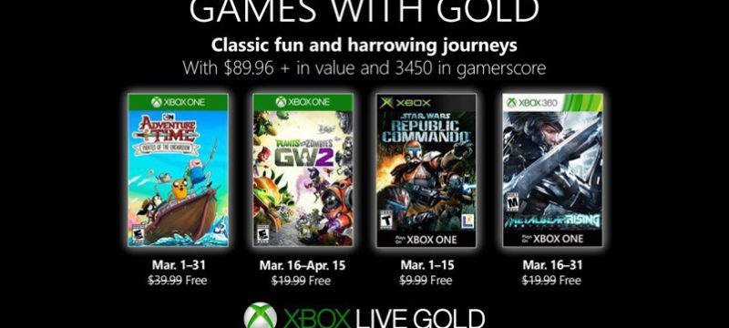 Games with Gold marzo de 2019