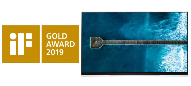 LG OLED TV E9 iF Gold Award