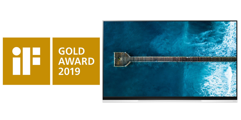 Por su diseño excepcional, LG OLED TV E9 recibe un iF Gold Award