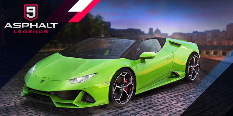 Lamborghini Huracán EVO Spyder correrá en Asphalt 9: Legends