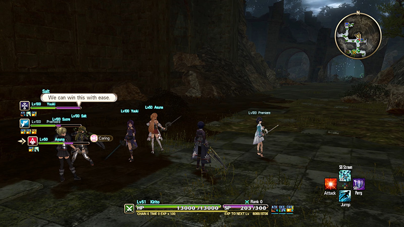 Sword Art Online Hollow Realization Deluxe Editon gameplay