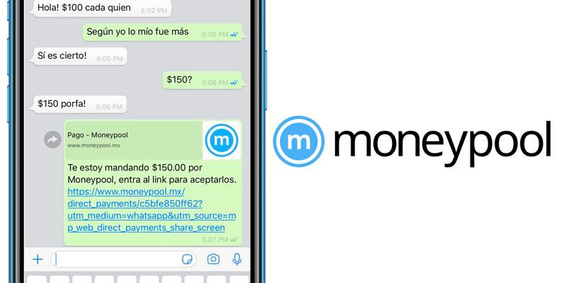 Con Moneypool y WhatsApp, podrás pagarle o cobrarle a tus amigos