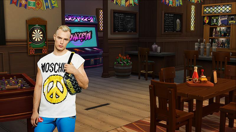 Moschino x Sims peace