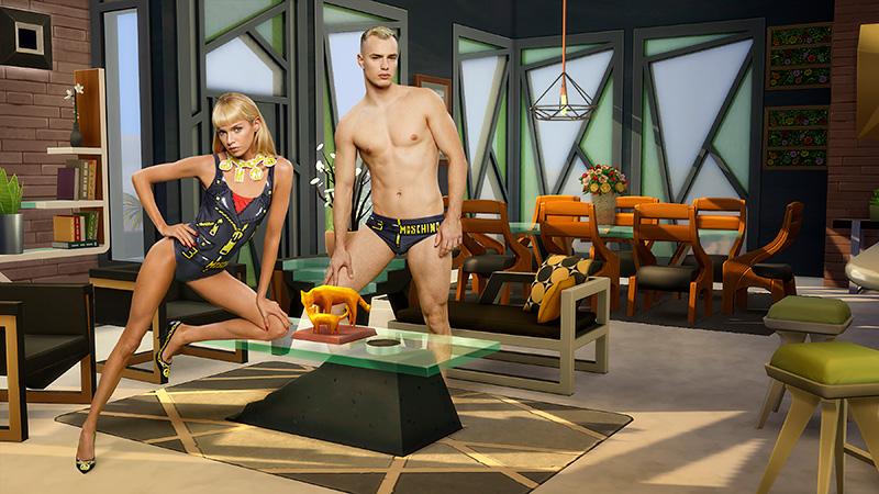 Moschino x Sims trajes