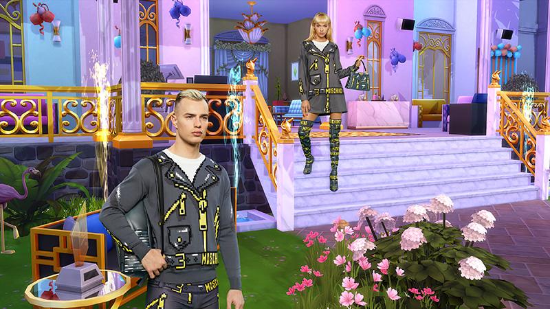 Moschino x Sims vestido sudadra